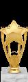 Фигура Звезда на мраморном цоколе