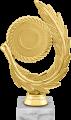 Фигура Эмблема с листом на мраморном цоколе