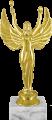 Фигура Ника с факелом на мраморном цоколе