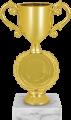 Фигура Кубок Лео Эмблема на мраморном цоколе