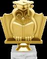 Фигура Сова Наука на мраморном цоколе