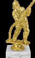 Фигура МЧС  Пожарный на мраморном цоколе