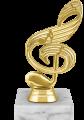 Фигура Скрипичный ключ Музыка на мраморном цоколе