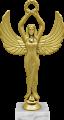Фигура Ника с венком на мраморном цоколе